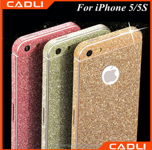 2016 hot selling mobile phone accessory full body glitter skin sticker for iphone 5 5s