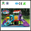 New outdoor playground ladder plastic slide and unique outdoor games for child play ( QX - 072D)