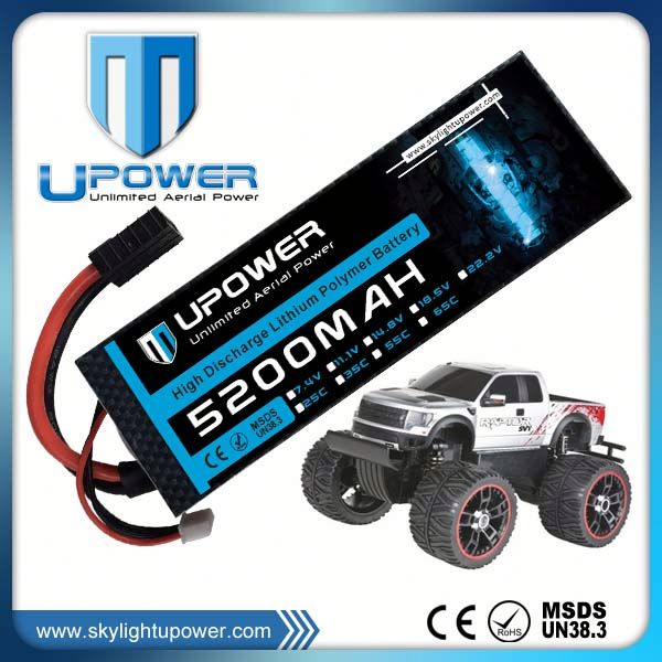 low internal resistance multicopter 5200mah 50c lipo battery