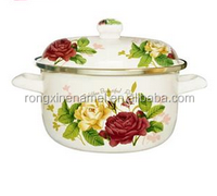 flower cookware set enamel casserole set