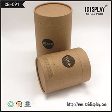 Plain cheap cylinder packaging cardboard gift boxes