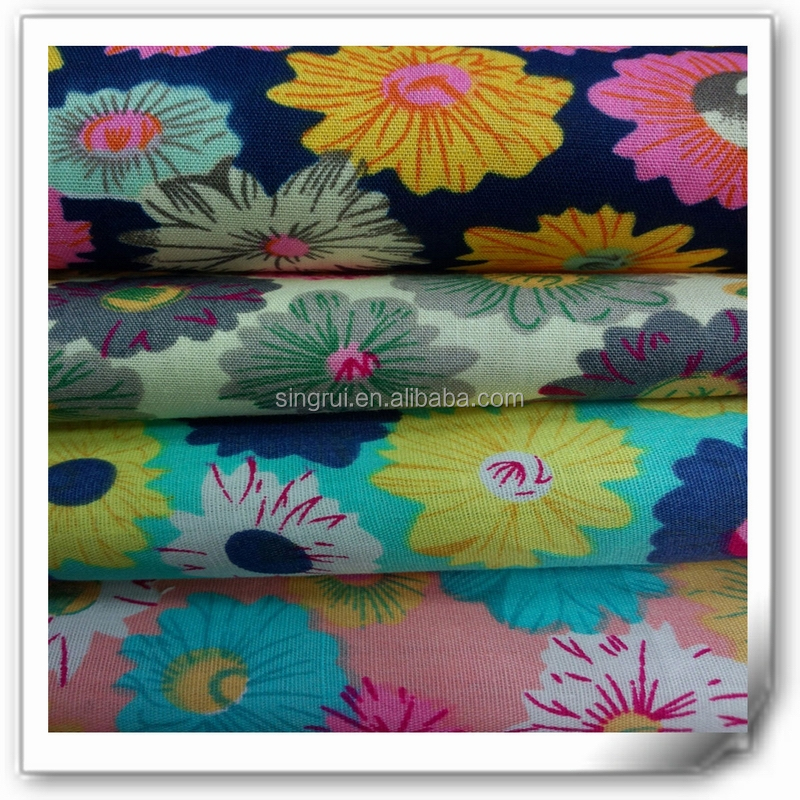 flower printed fabric for casual shoe, textile for shoe