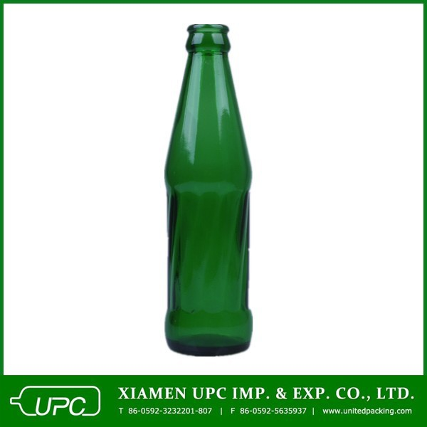 200ml green glass soda bottles