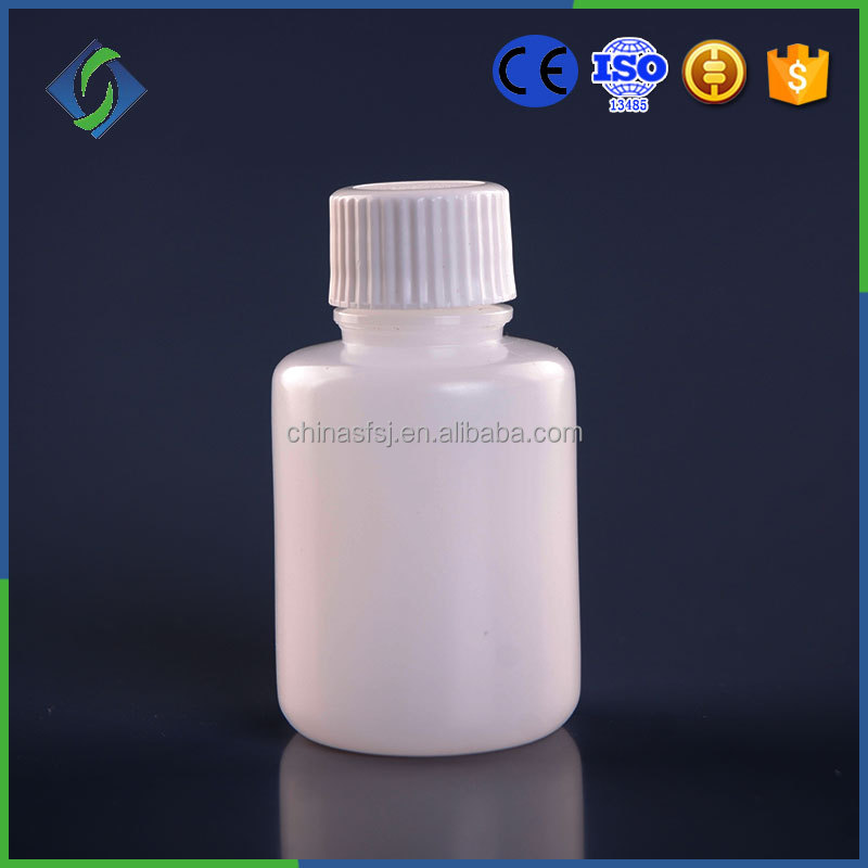 white hdpe medical packing plastic bottles used for storage solid medicine