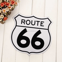 Hot sell painting embossed logo wall hanging metal sign route 66 for home cafe retro vintage decoration tin metal sign