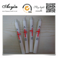 Palm Wax & Paraffin Wax White Church Candles wholesale