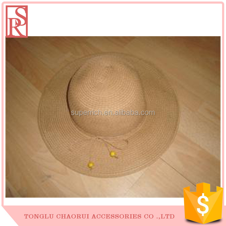 Spring Summer Paper Made Sun shade Straw Hat Made In China