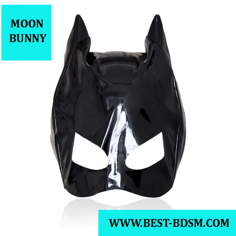 MOON BUNNYsource Cat Women Mask Leather Hood With Horn Bondage Restraint Role Play Kinky Fetish Wear Exotic Sex Toy