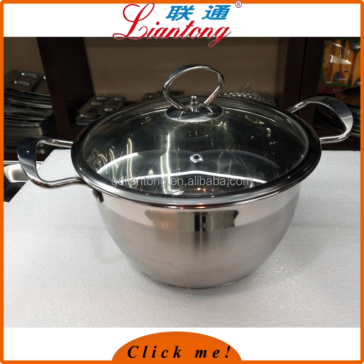 24cm anti rust polished instant hot pot, Durable casserole hot pot for cooking