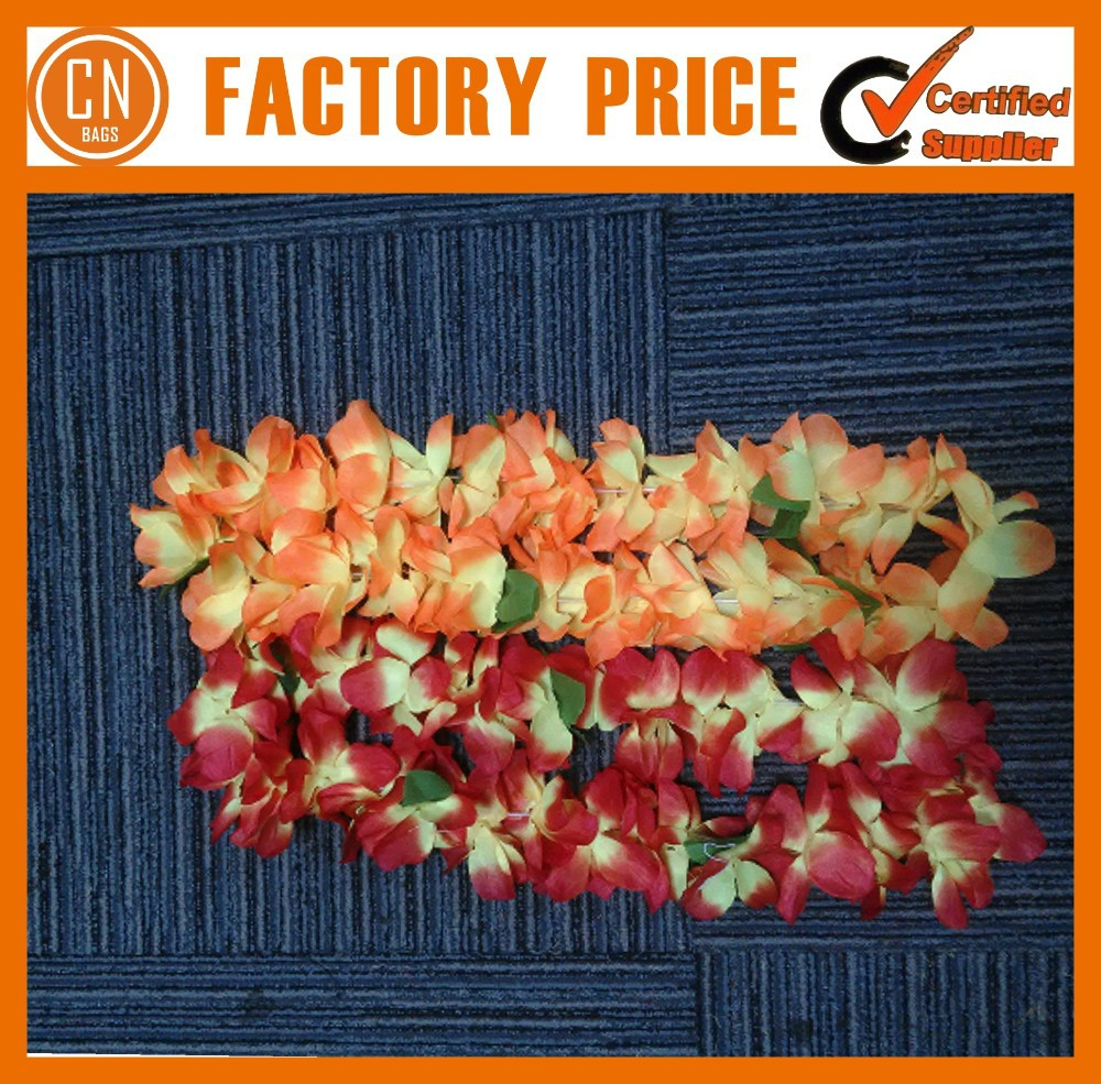 High Quality Polyester Hawaii Flower Necklace Lei