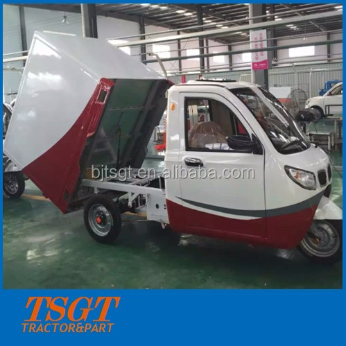 Electric tricycle cargo using with closed box