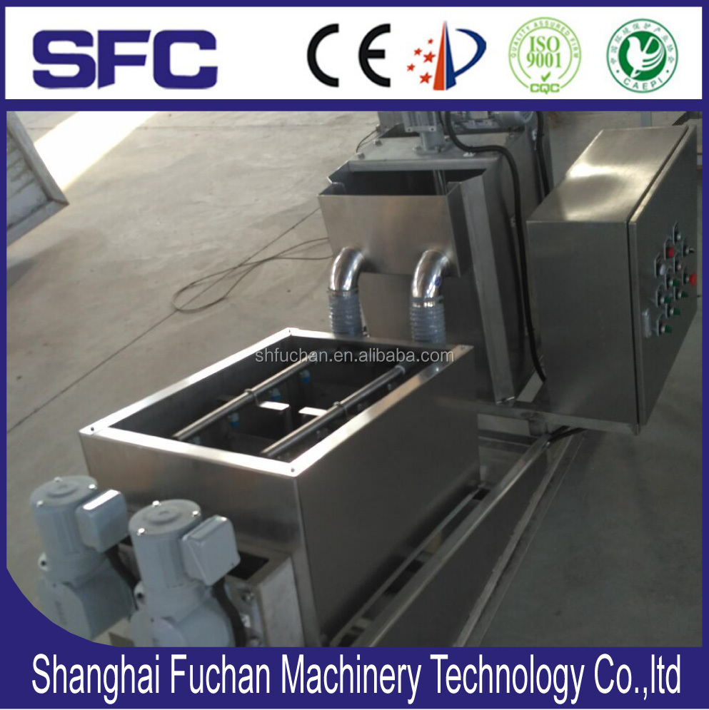 ISO 9001/14001 certificated liquid solid separator Screw Press/Sludge Dewatering Machine/Sludge dehydrator for Amyloid Industry