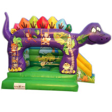 most popular Super Cute Dinosaur inflatable bouncer jumper/ jumping bouncy castle/ moon bounce house slide combo for kids