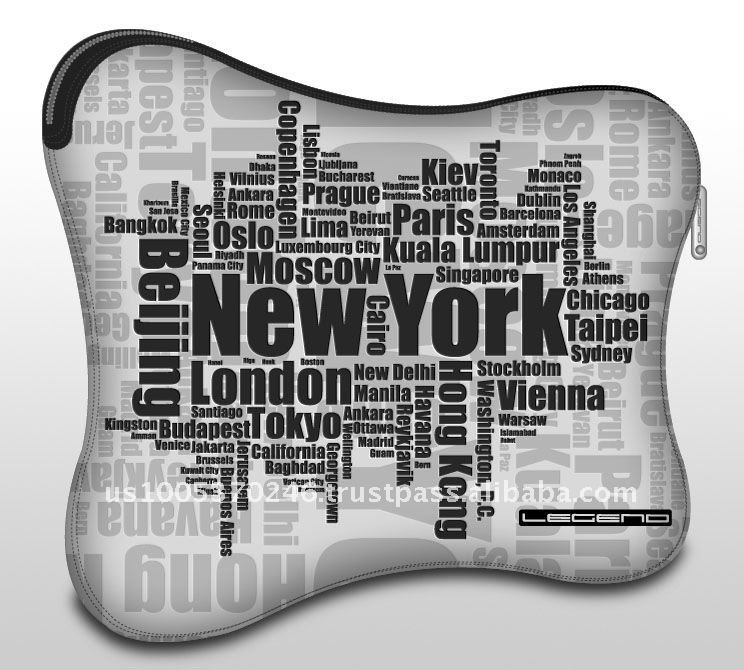 Zipper Soft Neoprene Case_New York for IPad / tablet PC