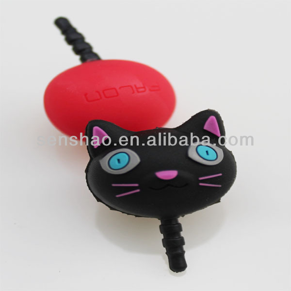 3.5mm Cute animal phone dust plug,dustproof plug earphone cap