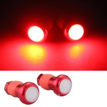 2 Alloy Bicycle Bike Cycling Handlebar LED Light Lamp Handle Bar Red