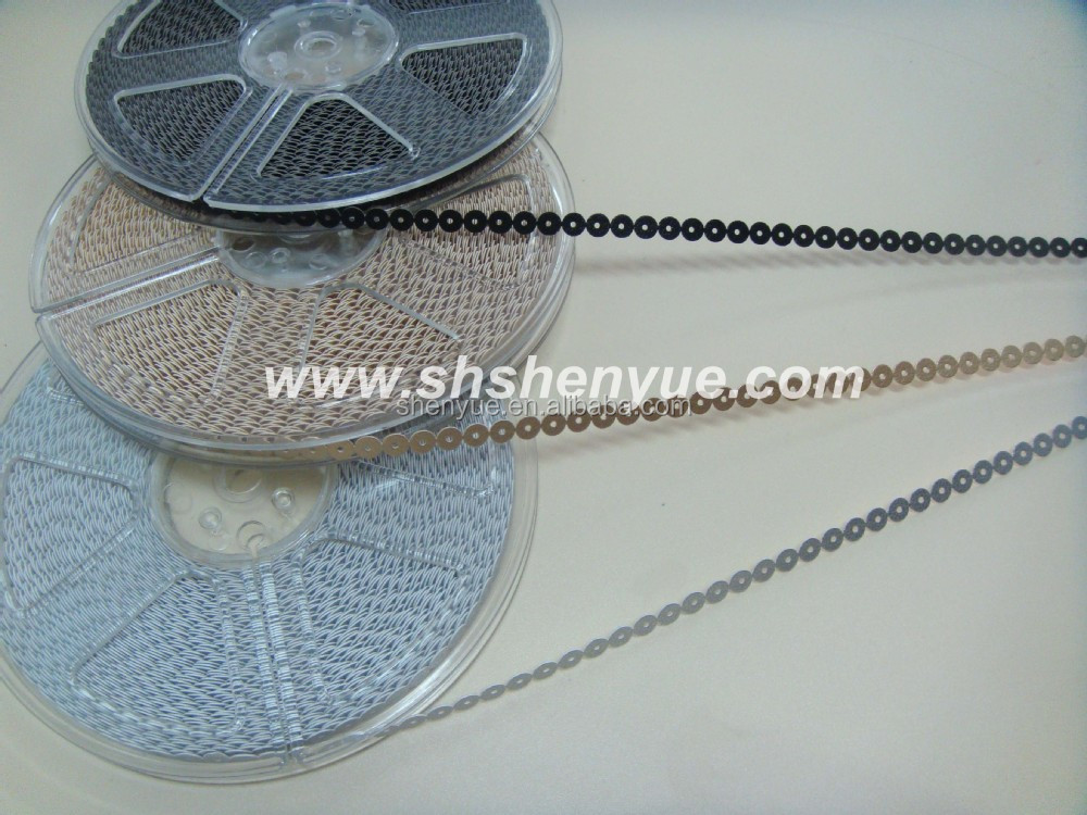 sequin spangles string for embroidery machine sequin rolls sequin disk for garments
