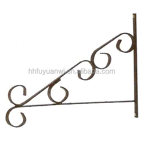 Factory Powder Coated Metal Wall Hanging Basket Hooks