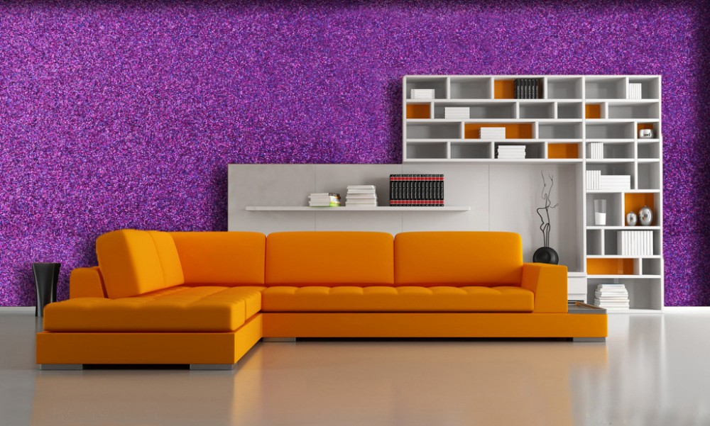 Free AOZ approved high shinning fabric wallpaper walls