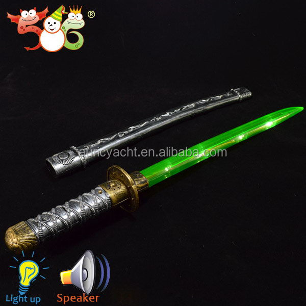 3 color assorted LED flashing ninja sword plastic flashing led sword