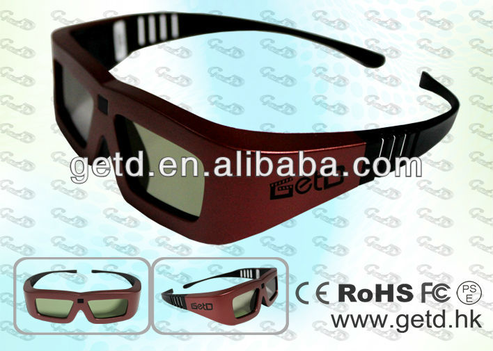 Cool design, Active LCD lens, ABS frame, CR2032 power supply, DLP-LINK projector use 3D glasses---GL100