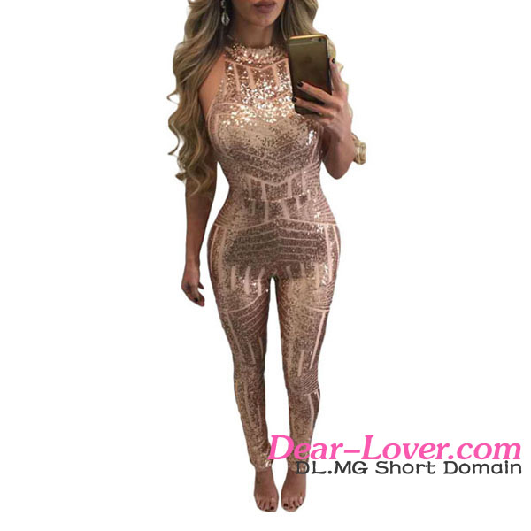 Sexy Summer 2017 Hot Adult Ladies Beautiful Stylish Sequin Jumpsuits