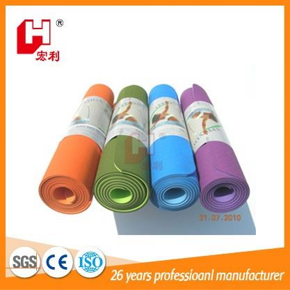 Comfortable black smoothly material wholesale yoga mat