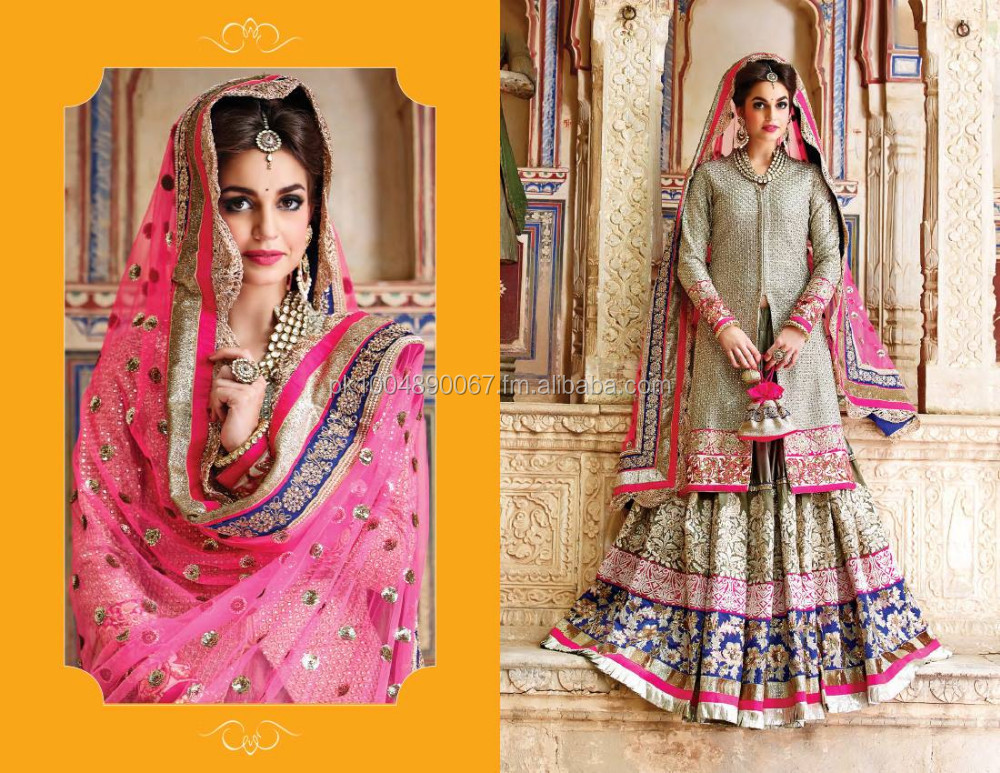 pink with faun and blue sharara fully embroiderd from top to bottom