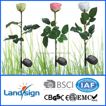 Solar garden lights factory straight pin solar stick lights product XLTD-723 outdoor solar led flower lights