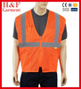 Safety Vest Zipper with Pockets High Visibility Reflective Lime