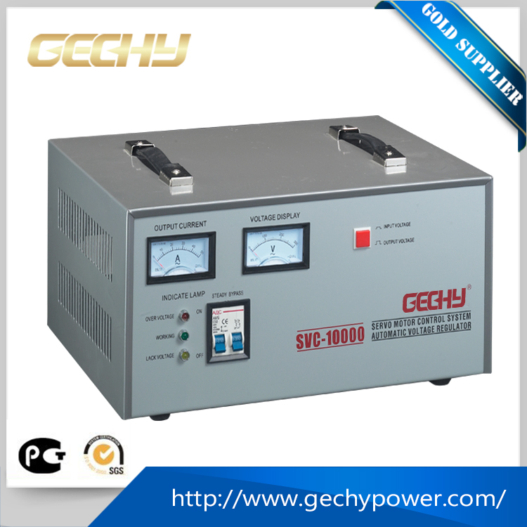 SVC-10KVA Vertical motor single phase servo Meter display electromechanical automatic AC voltage regulator/stabilizer/AVR