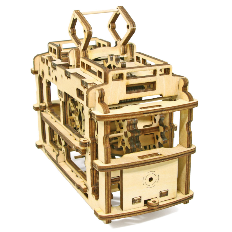 Dropship Decor Gadget DIY Kit Cable Car Mechanical DIY 3D Wooden Puzzle Tramcar Model Self-Propelled Construction Set Wood Craft