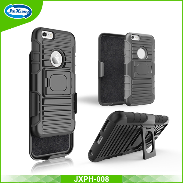 Dual layer ring armor kickstand TPU PC shockproof case for iPhone 6s