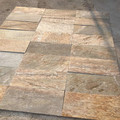 Golden slate paver tiles