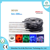 2835 Led strip No waterproof DC 12V High Quality 5M 300LED Cool White 100M lot DHL SHIP