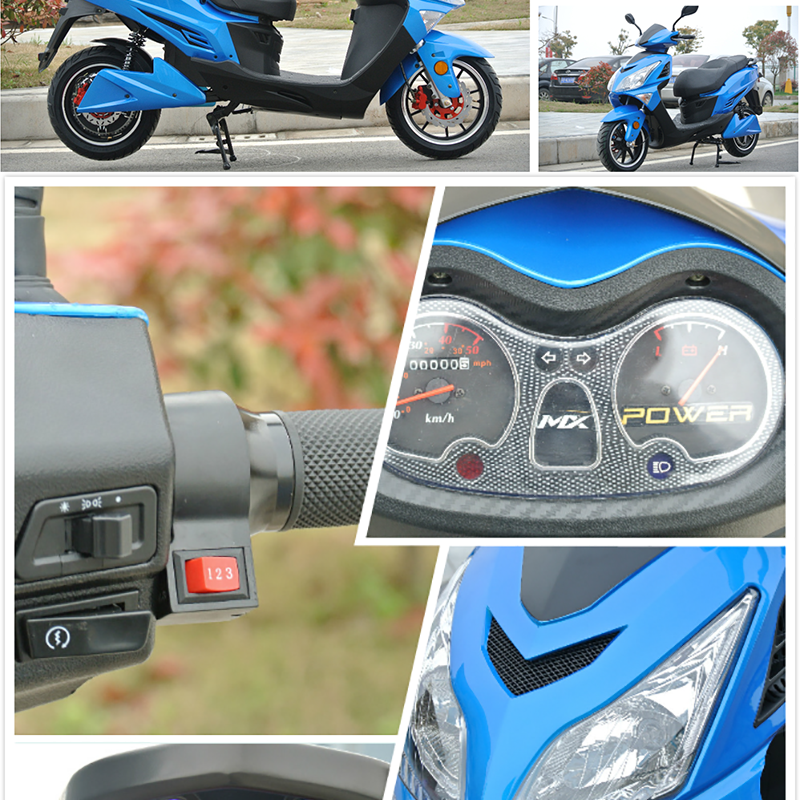 2000w Electric Moped Eagle Electric Scooter with Disc Brakes