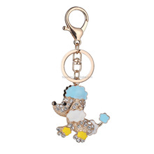Fashion Accessories Bag Keychain With Cute Dog Pendant Keyrings Gift for Girls