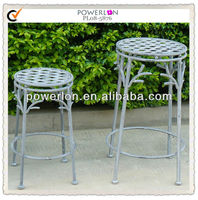 Outdoor Decorative Tree Trunk Wrought Iron Metal Anitque Plant Pot Stand