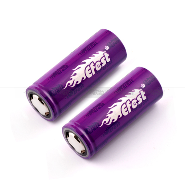 Efest 26650 5000mah battery high discharge 26650 battery for Presa tc 100w Mod Single 26650 box