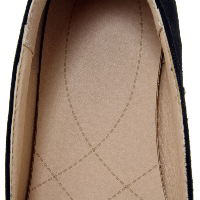 Women Suede Leather Flats Leisure Embroidery Soft Lightweight Ballerinas Loafers
