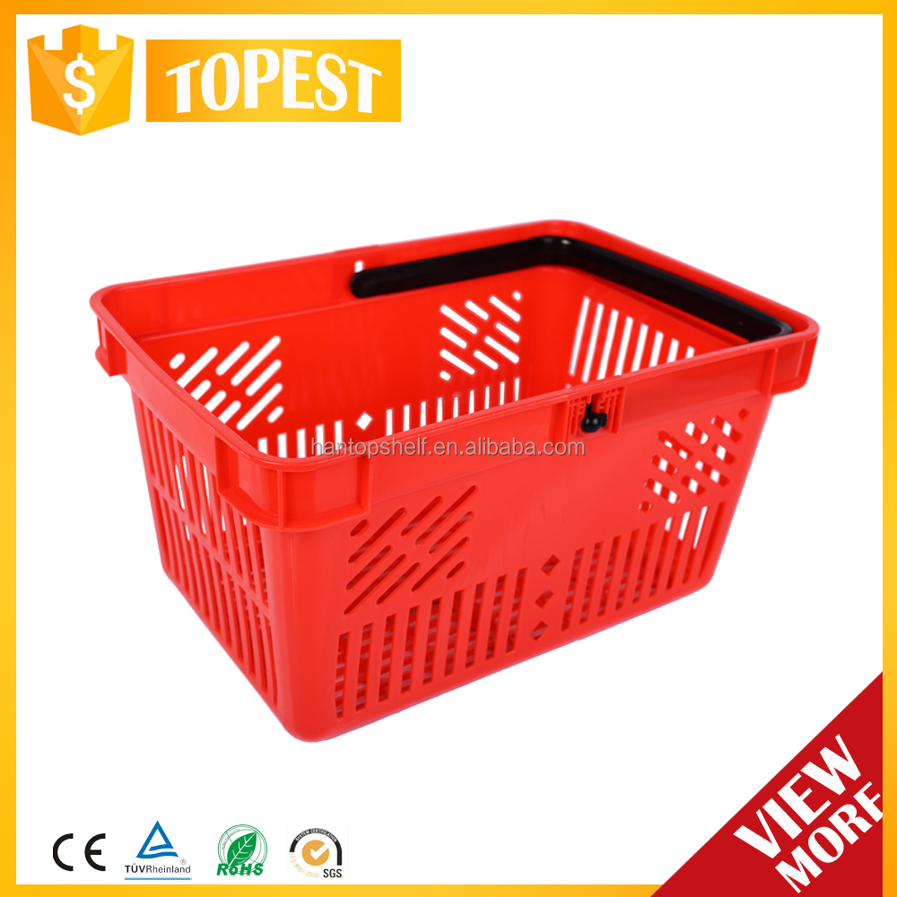 plastic shopping basket with logo 21 liters HAN-PB13 3752