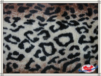 Leopard grain artificial fur with smooth and soft
