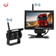 12V 24V wireless 7 inch lcd monitor wireless rear view camera for truck