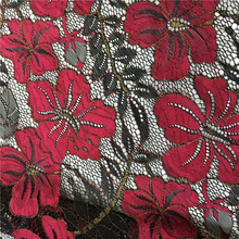 2017 Best selling hand embroidered beads lace with beads sequins lace fabric