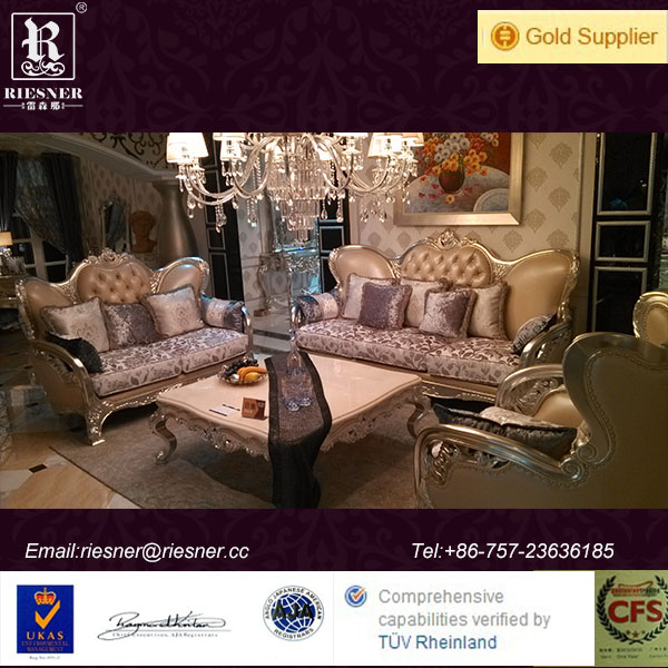 classic europe wood luxury carved palace furniture sofa N05-085