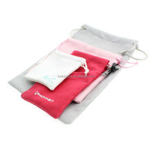 brands printable velvet bags and pouches with drawstring