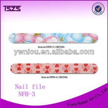 Fashion colorful heart shape patterned nail file