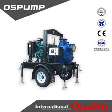 6 inch self-priming pump trailer sewage pump with famous brand deisel