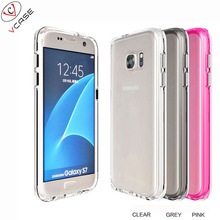For Samsung galaxy s7 clear Tpu PC Case Clear Transparent Soft Silicon 1.3mm Case for S7 Cases