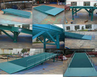 Folding hydraulic dock ramp